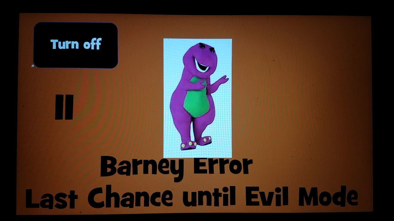 Barney Error itch io/PowerPoint by AndrewSilverman1 (Download Link in  description)