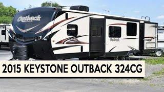 2015 keystone outback 324cg   toy hauler travel trailer