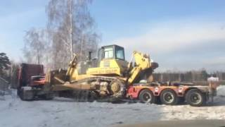 Перевозка бульдозера тралом 60 тонн(, 2017-03-15T12:47:18.000Z)