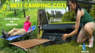 Camping Cots for Sale | Top 7 Best Portable Double Folding Camping Tent Sleeping Cot Bed