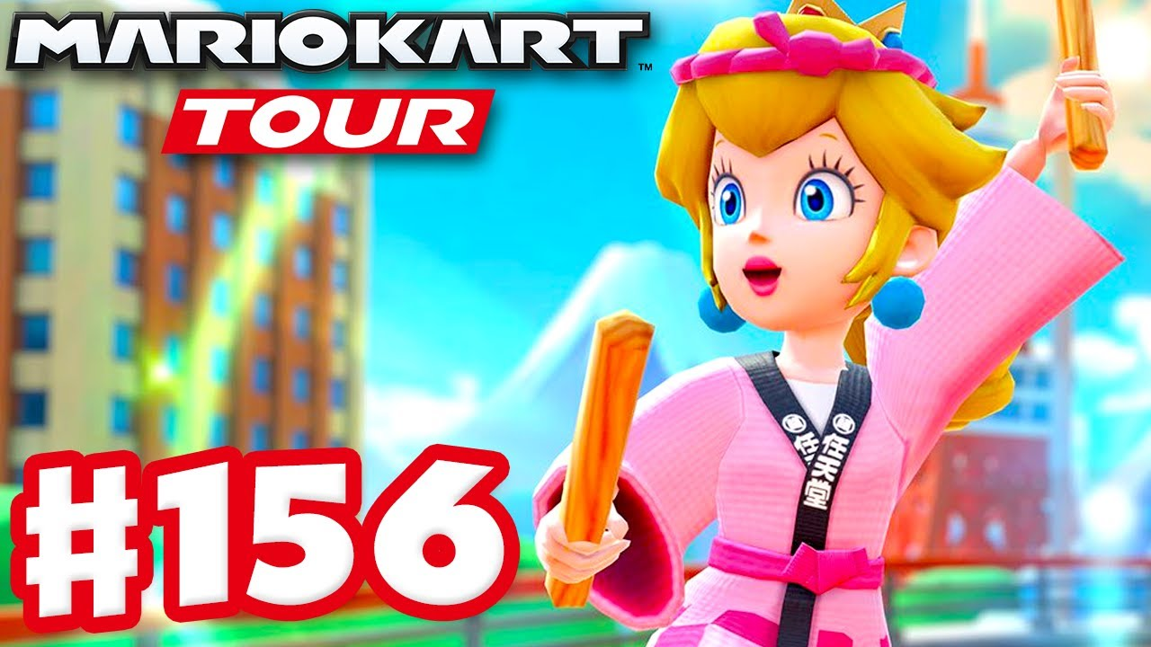 Mario Vs. Peach Tour! Happi Peach! - Mario Kart Tour - Gameplay Part 156 (iOS)