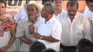 Alejandro Murat visita El Cedral; San Juan Bautista Tuxtepec