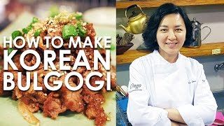 How To Make Korean Bulgogi by Chef Jia Choi