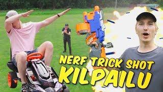 NERF TRICK SHOT KILPAILU