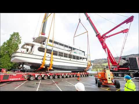 The 'soft Launch' Of MV Swift Into Lake Windermere