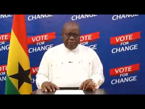 Nana Akufo-Addo Final Broadcast to Ghanaians