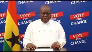 Nana Akufo-Addo Final Broadcast to Ghanaians