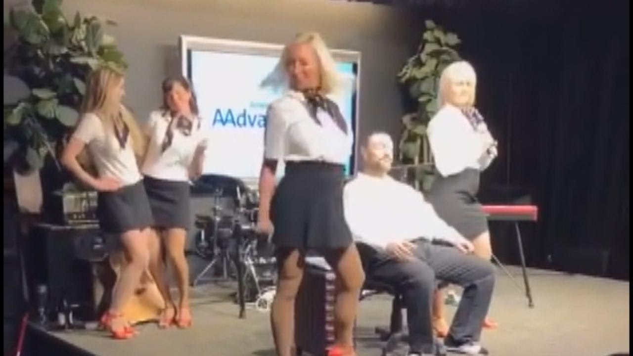 Off Duty Flight Attendants Perform Sexy Number For Charity Youtube