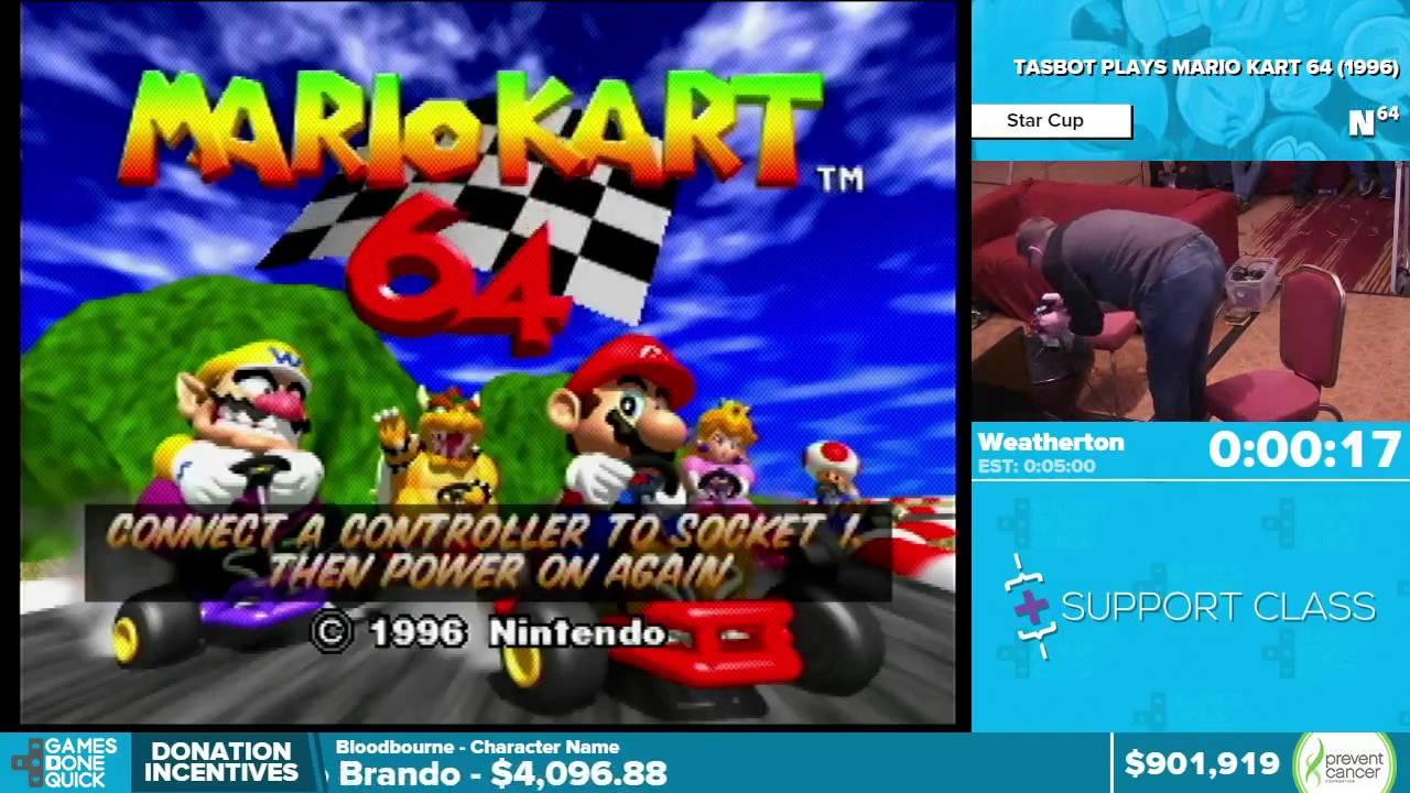 Tasbot Plays Mario Kart 64 By Weatherton In 4 31 Awesome