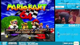 Tasbot Plays Mario Kart 64 By Weatherton In 4:31   Awesome Games Done Quick 2016   Part 151