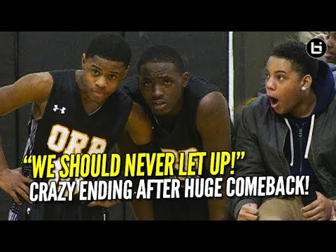 """Chase Adams, Orr Academy CRAZY Finish! """"WE SHOULD NEVER LET UP!"""" Highlights vs NLCP"""