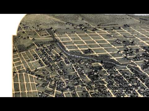 Jacksonville Florida 1893 Panoramic Bird's Eye View Map 7043