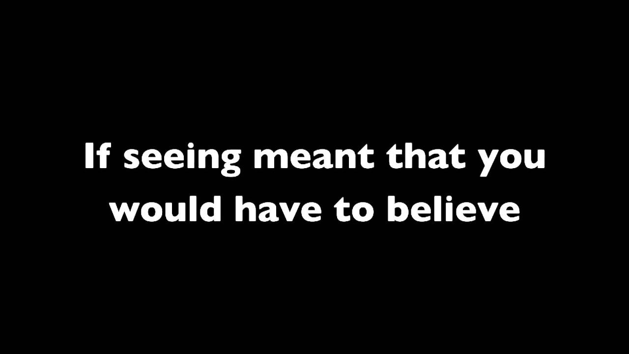 Alanis Morissette - What If God Was One Of Us (lyrics ...