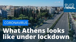 This is what Athens looks like under lockdown
