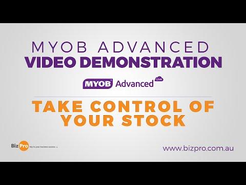 MYOB Advanced - Take Control Of Your Stock - Demonstration