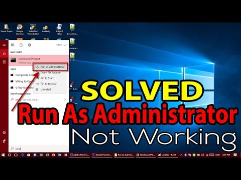[SOLVED] Run As Administrator not working in Right Click Context Menu when opening any application.