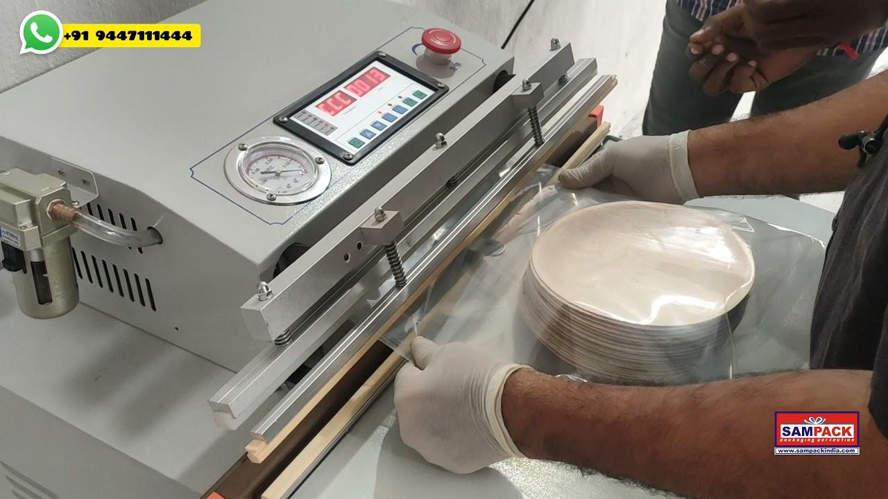 Download Vacuum packing Machine Arecanut Plate Vacuum packing machine manufacturers Coimbatore