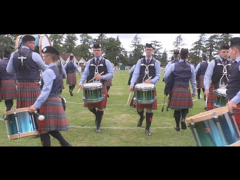 Field Marshal Montgomery Pipe Band in Forres at the 2017 European Championships