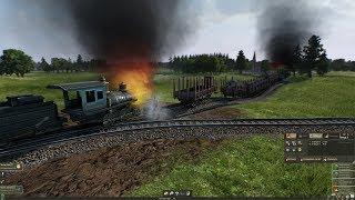 Столкновение поездов! СЛОМАЛ ИГРУ! - Mashinky #3