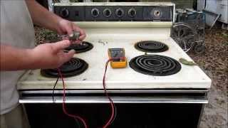 Electric Range Diagnostic (top burner wont work)