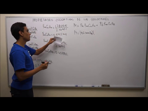 Presión de Vapor o Ley de Raoult - Concepto y Ejercicio #1