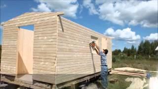 Бытовки для дачи и стройки(Строительство дачного домика за 7 часов www.psk60.ru., 2012-09-19T20:55:11.000Z)