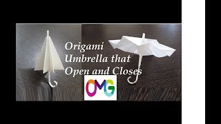 Paper Origami Umbrella That Open And Closes Easy To Make