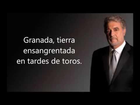 Plácido Domingo - Granada (con letra)