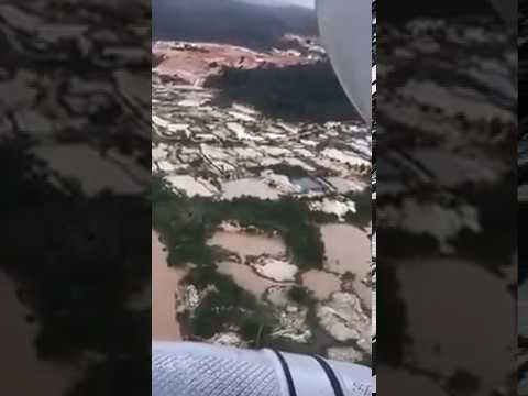 Aerial view of environmental damage caused by illegal mining in Amansie West.