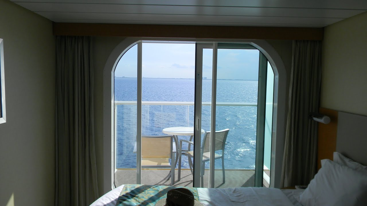 Allure Of The Seas Oceanview Balcony Stateroom Tour Cabin