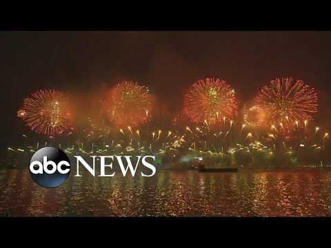 Hong Kong, China Celebrates the Start of 2018