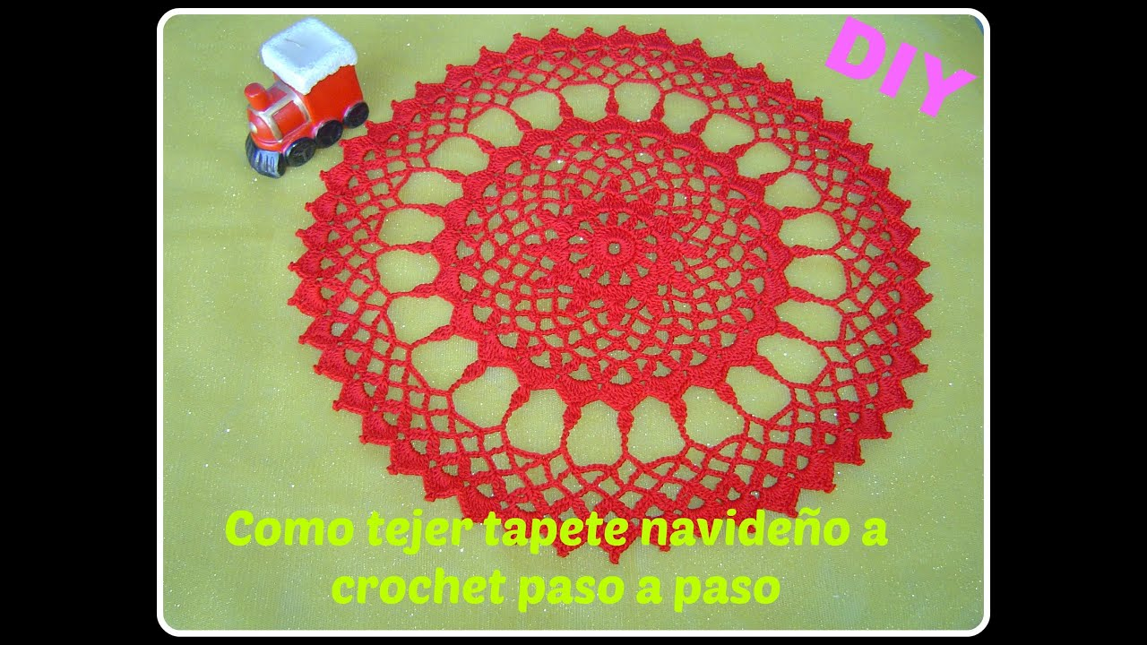 Como hacer tapete, carpeta a crochet parte 1/2 DIY - YouTube