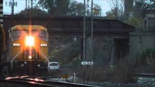Metra, BNSF, NS, CSX & CNW 8701 at Western Ave & 14th St/Global I, 25.10.12