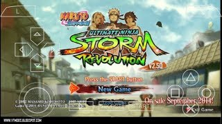 Cara Download Di Android Game Naruto Shippuden Ultimate Ninja Storm Revolution (Mod) PPSSPP
