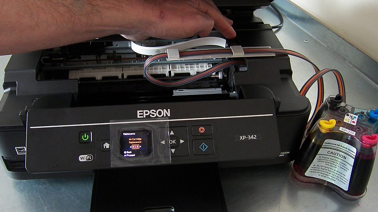 Ciss Continuous Ink System Fits Epson Xp342 Xp 342 Youtube