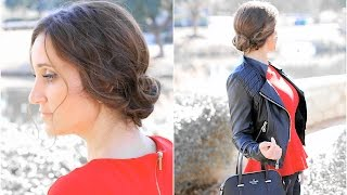 Simple Knotted Updo | Easy Hairstyles