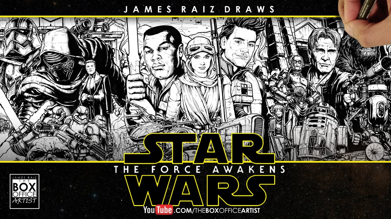 STAR WARS THE FORCE AWAKENS THE DRAWN TRAILER