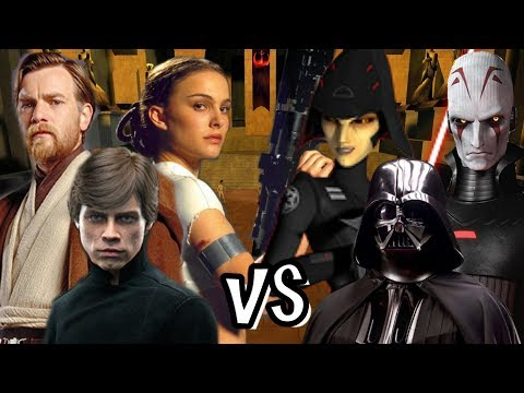 Jedi Padme, Luke And Obi Wan Vs Vader, 7th Sister And Grand Inquisitor