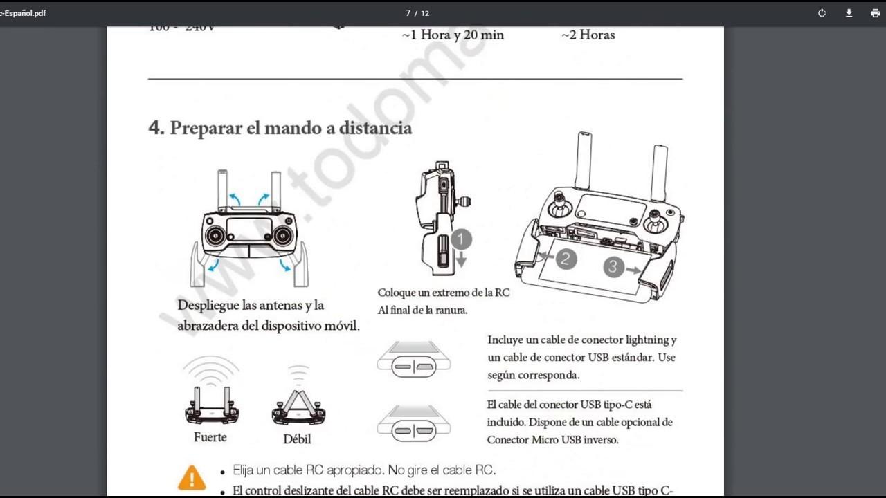 Manual en Español - Mavic Pro - YouTube