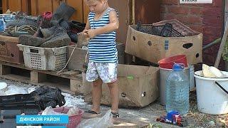 В Динском районе многодетная семья вынуждена жить на 20 квадратных метрах