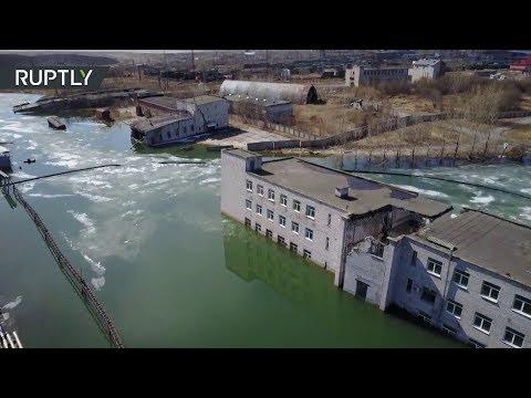 Dron captura los restos de un pueblo fantasma en Rusia