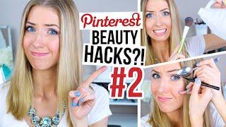 5 MORE Pinterest Beauty Hacks TESTED! || #2
