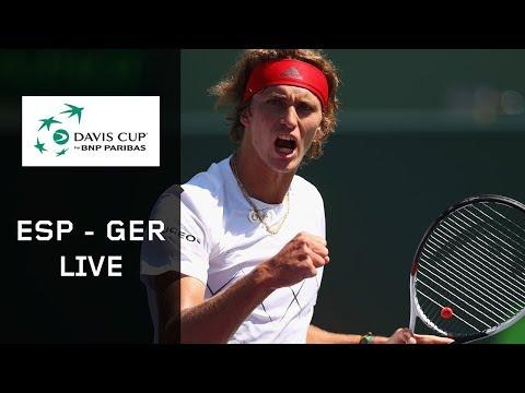 Re Live Spanien Deutschland Tag 1 Davis Cup Dazn Youtube