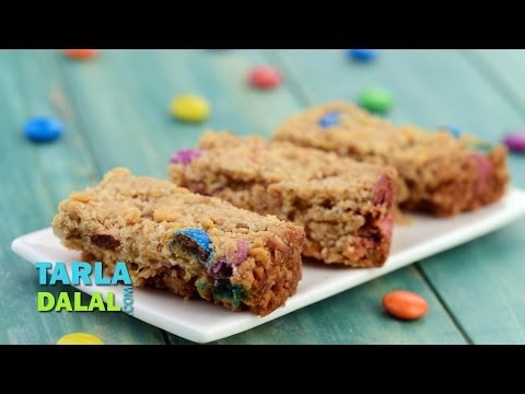 Oats, Walnuts and Cornflakes Snack Bar by Tarla Dalal