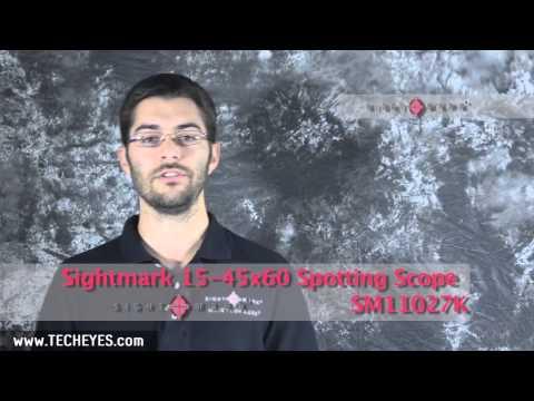 SM11027K   Sightmark 15 45x60 Spotting Scope - Video-Review by www.TECHEYES.com