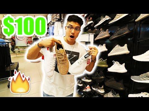 THE $100 CHALLENGE!! (FOOTLOCKER VS PAYLESS)