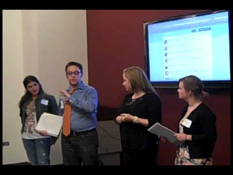 Team 3's presentation at BU's Social Media Competition