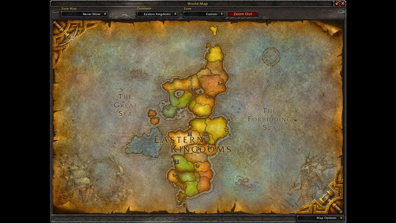 Eastern Kingdoms running south to north 4K