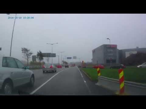 Small car crash in Pasila, Helsinki