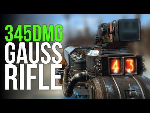 Fallout 4 Rare Gauss Rifle Location! (345 Damage, Last Minute Rifle)